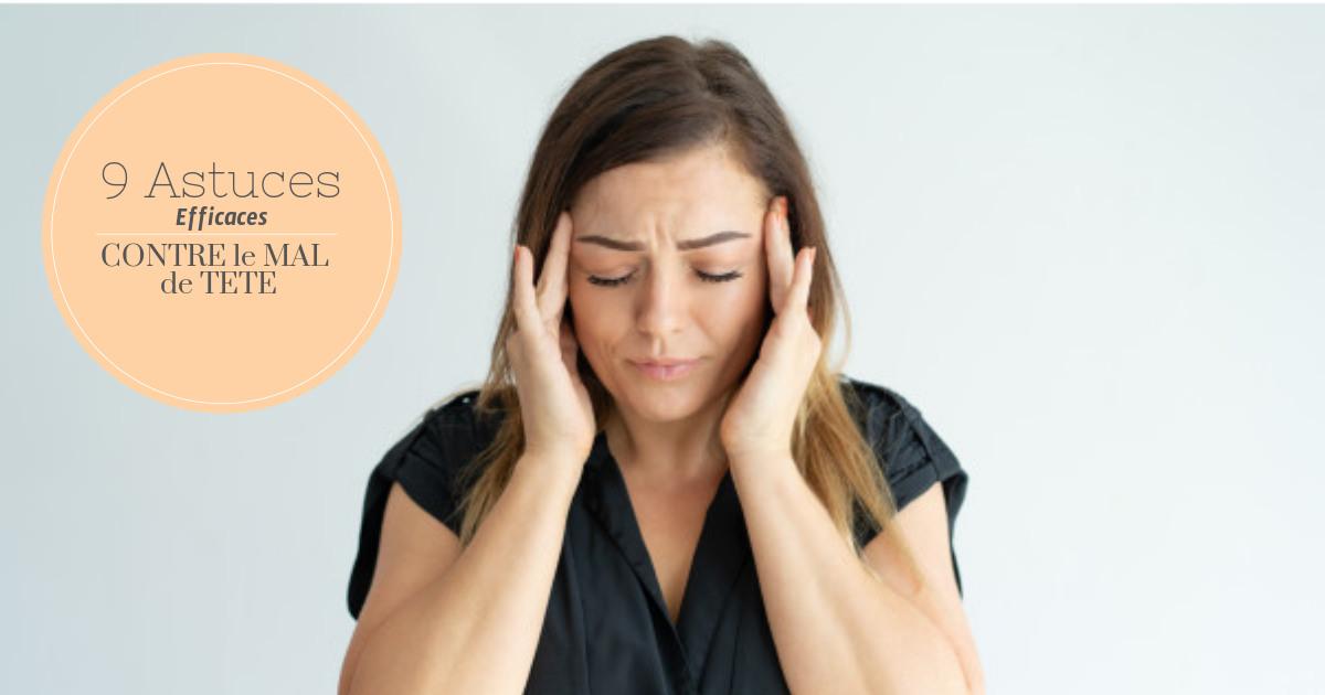 9 techniques de Massage  contre le mal de tête